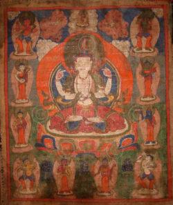 Tamang minority Avalokiteshvara thangka NT11, Nepal