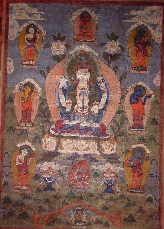 Tamang minority Avalokiteshvara thangka NT12, Nepal