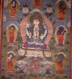 Thangka Tamang NT12, d' Avalokiteshvara, Népal