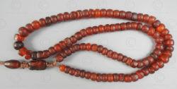 Tasbih burmite antique BD212. Inde, ambre originaire du nord de la Birmanie.