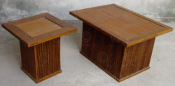 Teak side tables FV3b. Manufactured at Under the Bo workshop. Thailand.