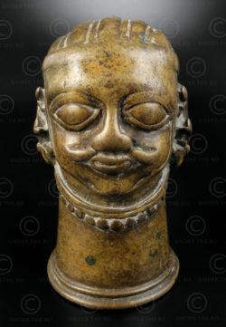Tete Shiva bronze 16P2A. Etat du Karnataka, Inde du sud.