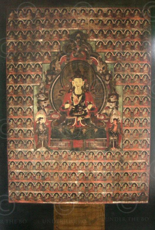 Thangka tibétain TIB130. Huile sur toile; Tibet.
