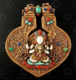 Tibetan Buddha pendant P160. Nepal.