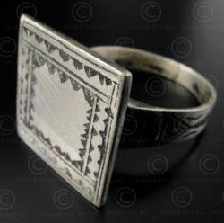 Tuareg silver ring R220B. Algeria-Niger, West Africa.