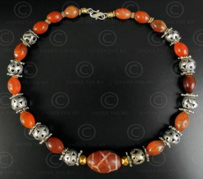 Turkmen silver and cornelian necklace 622. Designed by François Villaret.