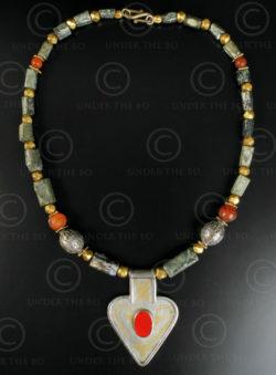 Turkmen silver necklace 619. Designed by François Villaret.