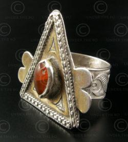 Turkmen silver ring R117. Turkmen culture. Afghanistan.