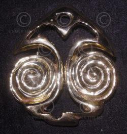 Boucle Spirales FB16. Boucle de ceinture en laiton.