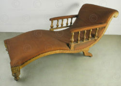 Victorian couch IN1. Colonial English Victorian, India.