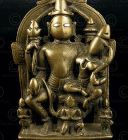 Vishnu Lakshmi Garuda A159. Bronze with silver eyes. Maharajtra, India
