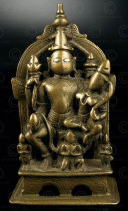 Vishnu Lakshmi Garuda A159. Bronze with silver eyes. Maharajtra, India
