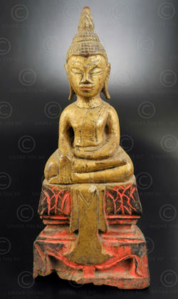 Thai seated Buddha T401A. Lanna (Northern Thailand) or Laos.