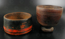Wooden bowls SW80A. Punjab and Sway valley, Pakistan.