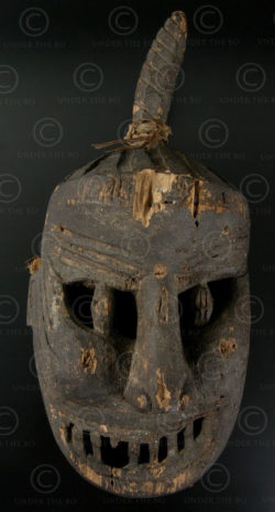 Lantien Yao mask LT29. Northern Laos or Southern China.