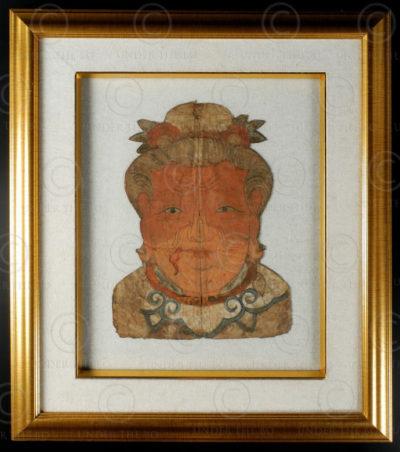 Yao paper mask YA156. Lantien Yao minority, Northern Vietnam.