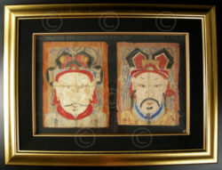 Yao paper masks YA151A. Lantien Yao minority. Laos or Southern China.