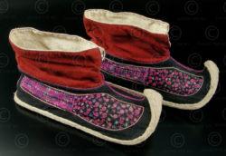 Yao shoes YA93. Lantien Yao group, Laos or Vietnam.