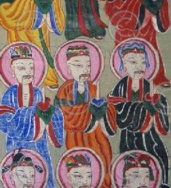 Yao paintings set15. Lantien Yao group. Laos