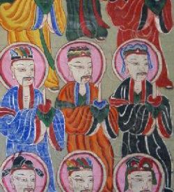 Peintures Yao set15. 4 peintures taoïstes Yao Lantien. Laos, 1880-1900.