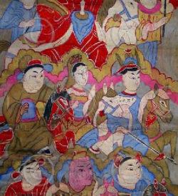 Yao paintings set16. Lantien group. Laos