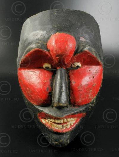 Yogyakarta topeng mask ID82. Yogyakarta region, Central Java island, Indonesia.