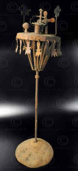 Yoruba asen altar AF25. Fon or Yoruba culture, Benin/Nigeria, West Africa.