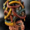 Nigerian mask AF118 Helmet mask, Yoruba, Nigeria
