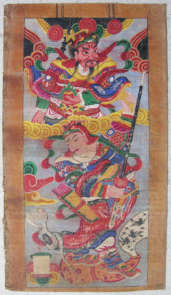 Zhuang painting 8606. Zhuang minority, Southern China.