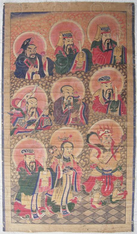 Zhuang painting Set2g. Zhuang minority, Southern China