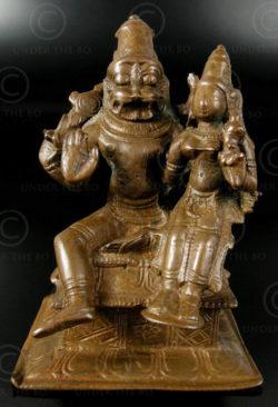 Narasimha bronze A185. Tamil Nadu, Inde du sud.