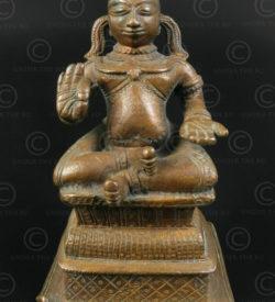 Bronze saint hindou 16P20. Etat de l'Andhra Pradesh, Inde du sud.