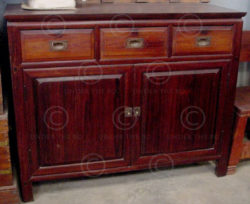 sideboard BO1 Chinese from Borneo. Belian wood. Mid-20th cent.