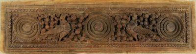 Indian carved panel 09BS8. Satin wood, Southern India.