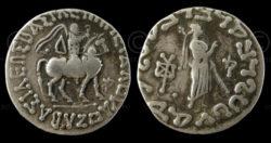 Indo-Parthian coin C191. Gandhara