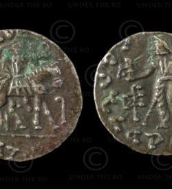 Indo-Scythian coin C197. Gandhara