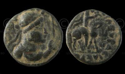 Kushan coin C253A. King Vima Takto. Gandhara.