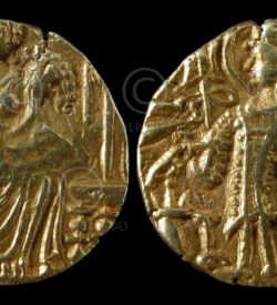 Kushan gold coin C280. King Kipanadha (late fourth century AD)