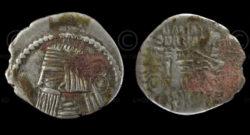 Parthian coin C227. King Artabanos II (10-38 AD). Parthia (Iran)