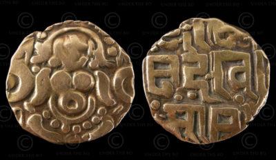 Rajput gold coin C269. Reign of King Govinda Chandra