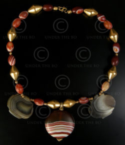 Collier avec agates à bandes, or No.561