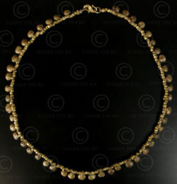 Collier en bronze tribal d'Orissa No.586A. Culture tribale Kondh, Orissa, Inde