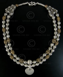 Collier argent 569. Argent indien, or 16 carats Bugis (Sulawesi, Indonésie).