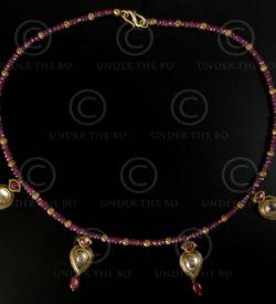 Collier avec or, rubis et argent No.477