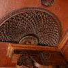 Indian door 08MT2. Teak and rose wood. Andhra Pradesh, Southern India.