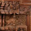 Madras door frame 08MT16A. Teak wood. Madras, Southern India.