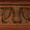 Madras door 08MT6. Teak wood. Madras, Southern India.