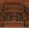 Madras door frame 08MT16D. Teak wood. Madras, Southern India.