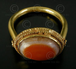 Eye gold ring R219. Afghanistan.
