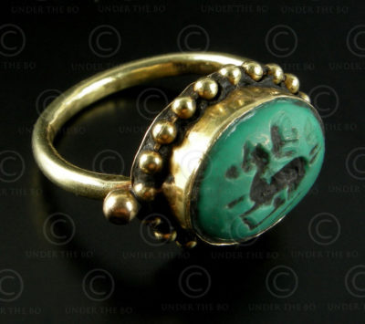 Sassanian seal ring R257. Made in Afghanistan